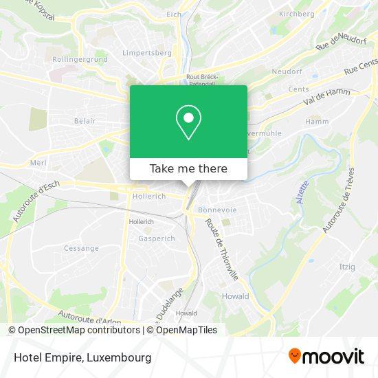 Hotel Empire map