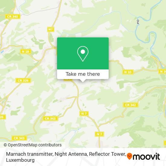 Marnach transmitter, Night Antenna, Reflector Tower map