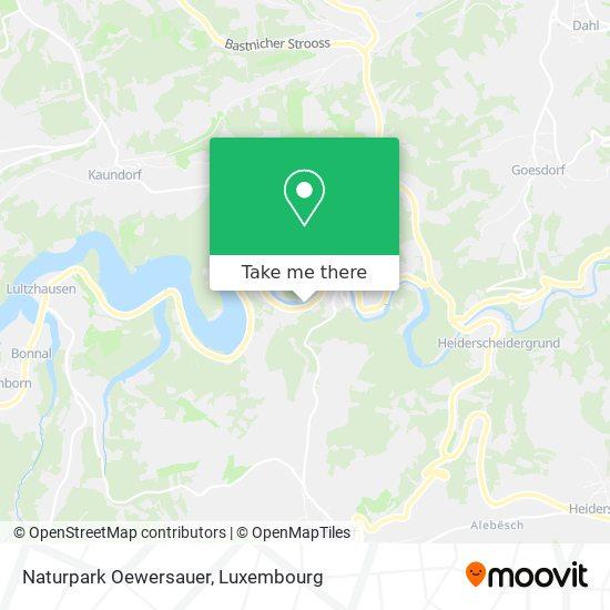 Naturpark Oewersauer map