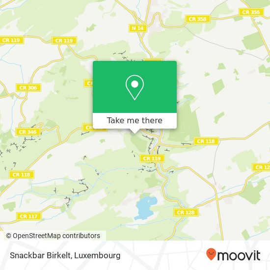 Snackbar Birkelt Karte