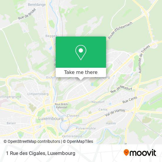 1 Rue des Cigales map