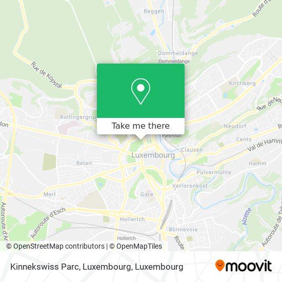 Kinnekswiss Parc, Luxembourg map