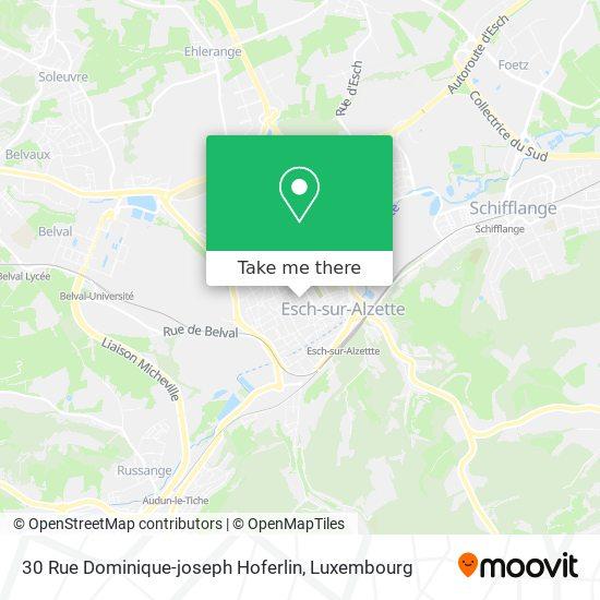 30 Rue Dominique-joseph Hoferlin map