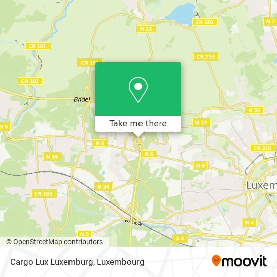 Cargo Lux Luxemburg map