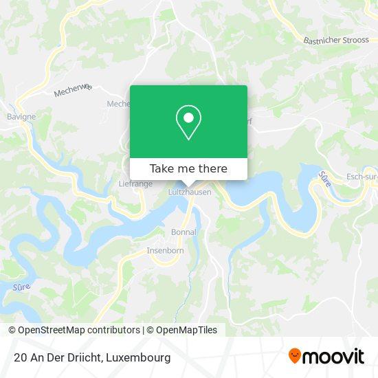 20 An Der Driicht map
