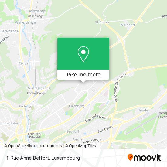 1 Rue Anne Beffort map