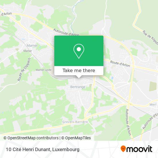 10 Cité Henri Dunant map