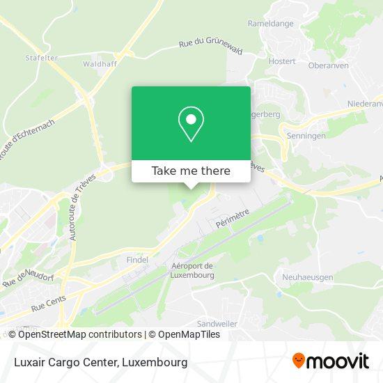 Luxair Cargo Center map