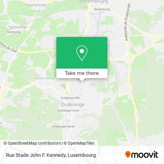 Rue Stade John F. Kennedy map
