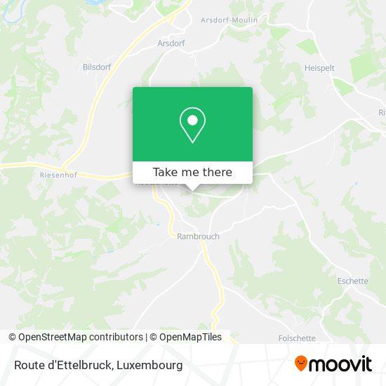 Route d'Ettelbruck mapa