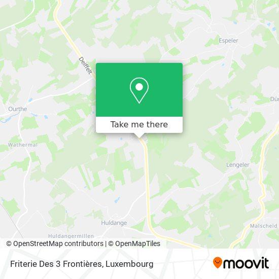 Friterie Des 3 Frontières map