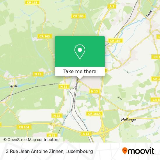 3 Rue Jean Antoine Zinnen map