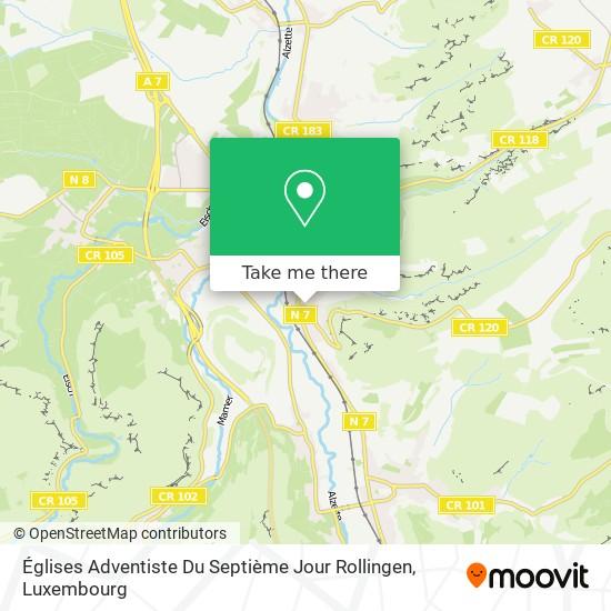 Églises Adventiste Du Septième Jour Rollingen map