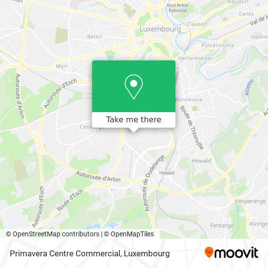 Primavera Centre Commercial map