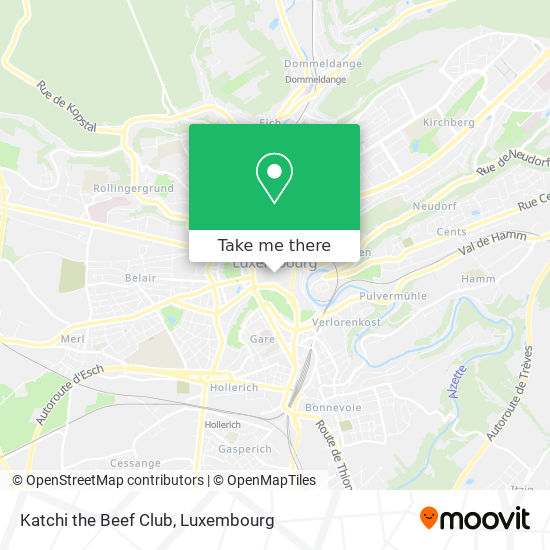 Katchi the Beef Club, 24, Place Guillaume II 1648 Luxembourg map