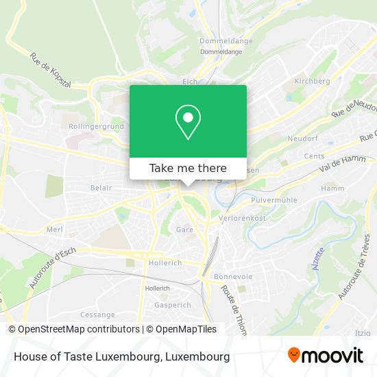 House of Taste Luxembourg, 11, Rue Louvigny 1946 Luxembourg map