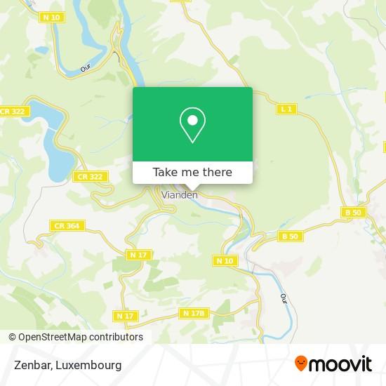 Zenbar mapa