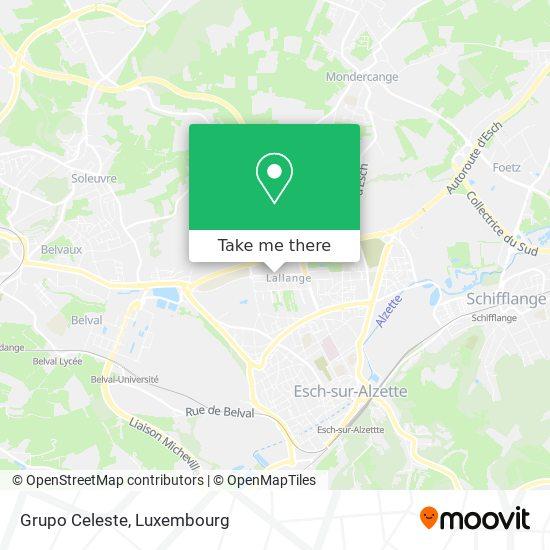 Grupo Celeste map
