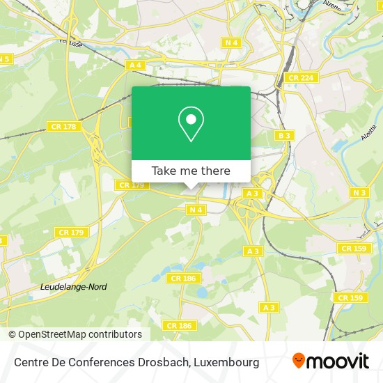 Centre De Conferences Drosbach map