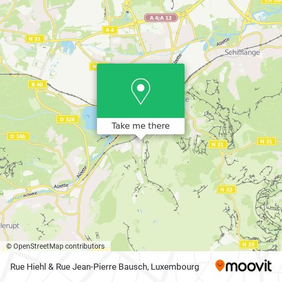 Rue Hiehl & Rue Jean-Pierre Bausch map