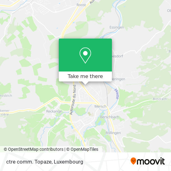 ctre comm. Topaze map