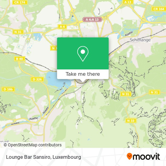 Lounge Bar Sansiro map