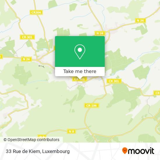 33 Rue de Kiem map