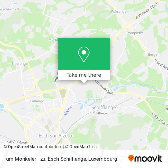 um Monkeler - z.i. Esch-Schifflange map