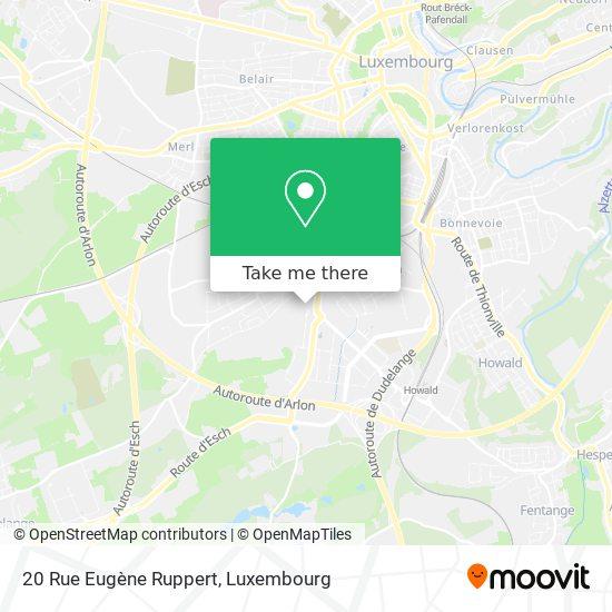 20 Rue Eugène Ruppert map