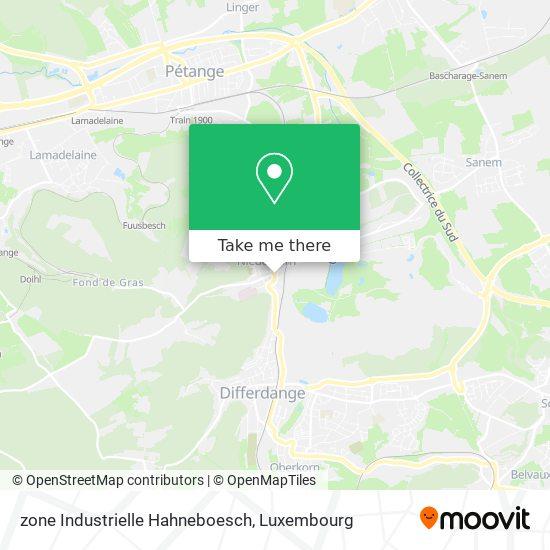 zone Industrielle Hahneboesch map