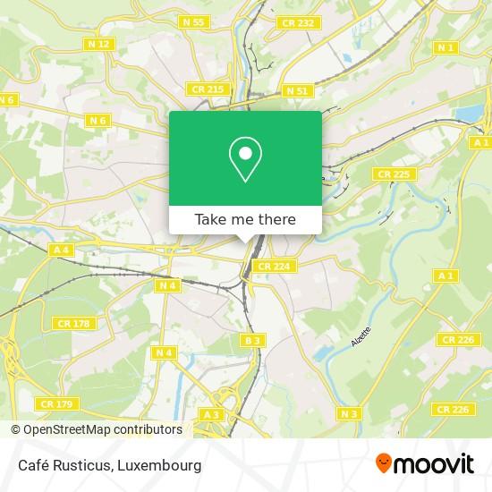 Café Rusticus map
