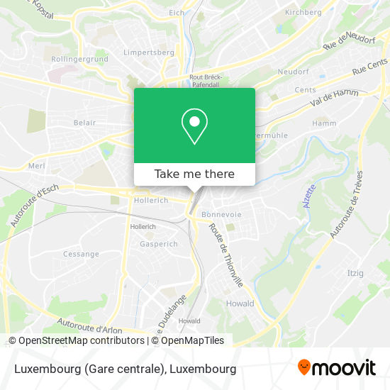 Luxembourg (Gare centrale) map