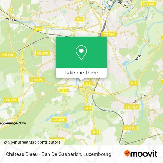 Château D'eau - Ban De Gasperich map