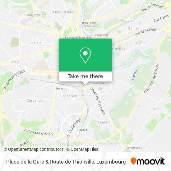 Place de la Gare & Route de Thionville map