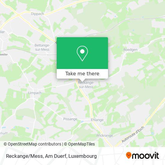 Reckange/Mess, Am Duerf map