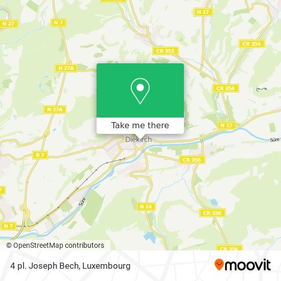 4 pl. Joseph Bech map