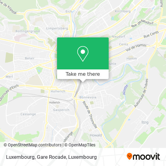 Luxembourg, Gare Rocade map