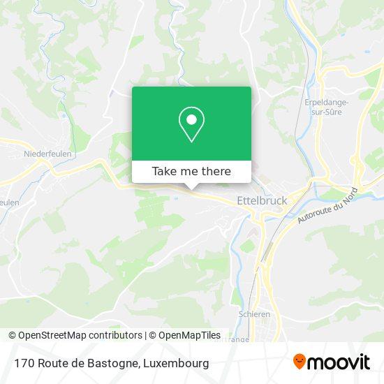 170 Route de Bastogne map