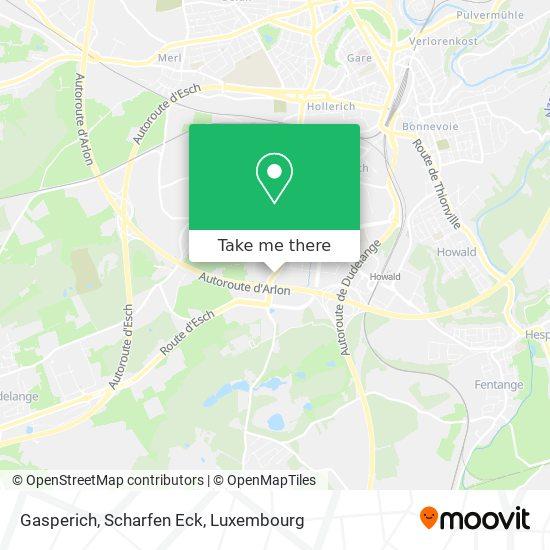 Gasperich, Scharfen Eck map