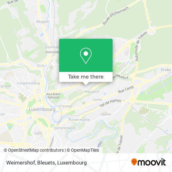 Weimershof, Bleuets map