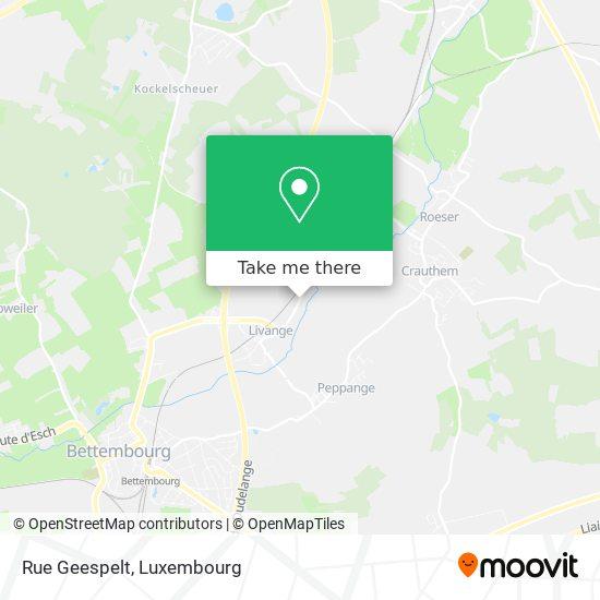 Rue Geespelt map