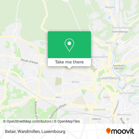 Belair, Wandmillen map