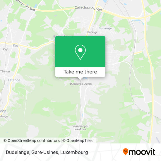 Dudelange, Gare-Usines map