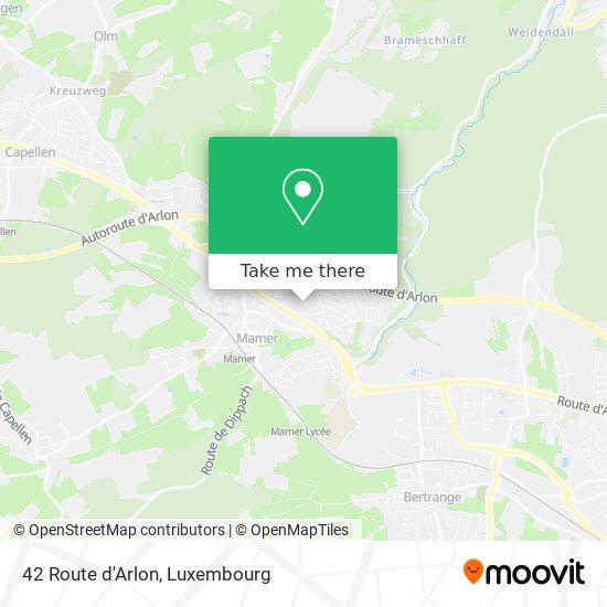 42 Route d'Arlon map