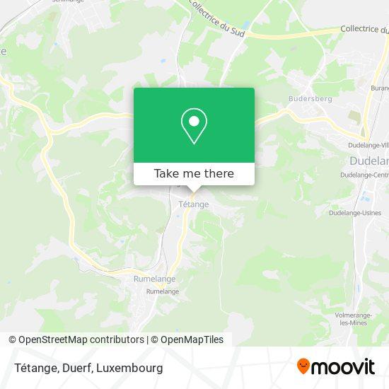 Tétange, Duerf map