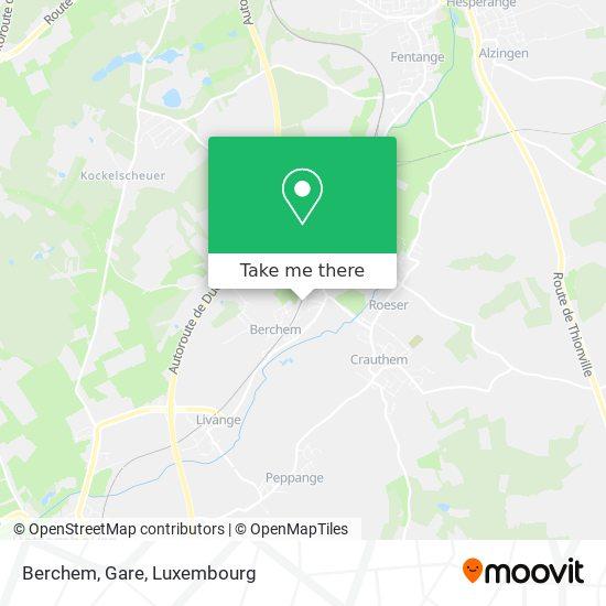 Berchem, Gare map