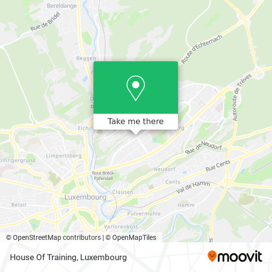 House Of Training map