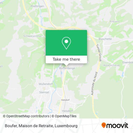 Boufer, Maison de Retraite map