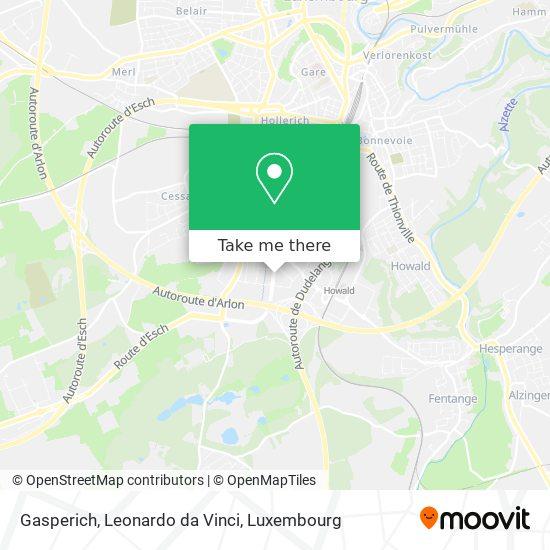 Gasperich, Leonardo da Vinci map