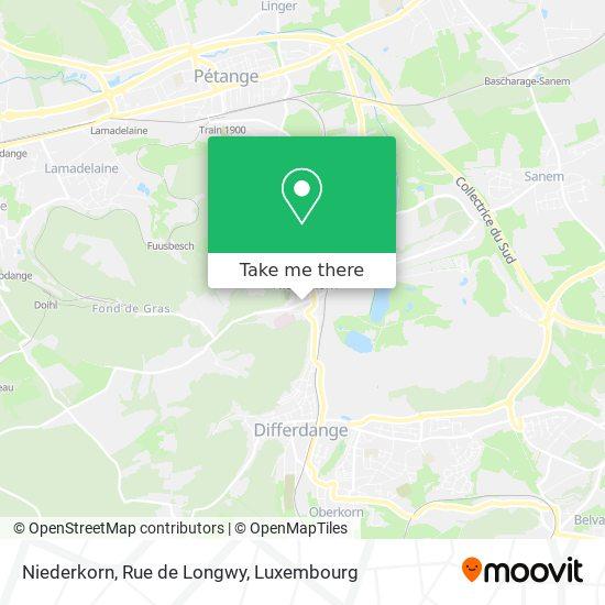 Niederkorn, Rue de Longwy map